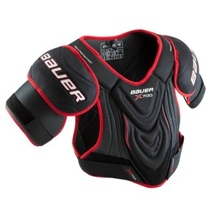 BAUER Eishockey-Schulterschoner Vapor X700 schwarz/rot, Größe: S