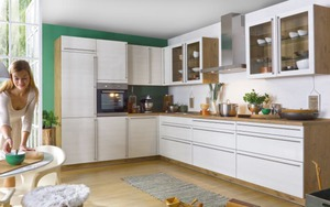 Unitec - Einbauküche Monaco Esche Perlmutt-Nachbildung