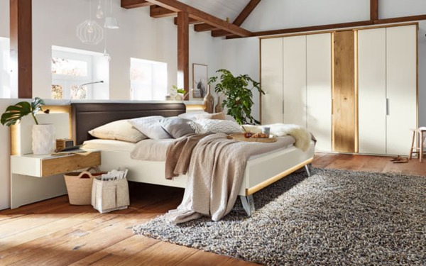 musterring schlafzimmer saphira in wei balkeneiche furniert von hardeck ansehen. Black Bedroom Furniture Sets. Home Design Ideas