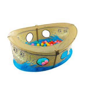 BIECO   Bällebad Piratenboot mit 50 Bällen