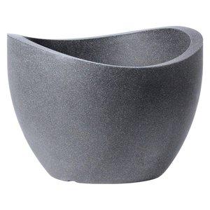 Scheurich Pflanzgefäß Wave Globe Ø 40 cm Schwarz-Granit