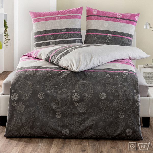 dreamtex edle renforc bettw sche ca 135 x 200 cm berry. Black Bedroom Furniture Sets. Home Design Ideas