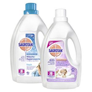 Sagrotan Wäsche-Hygienespüler 15 Waschladungen, versch. Sorten,  jede Flasche