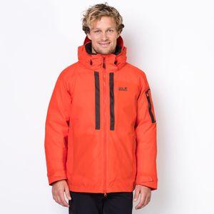 Jack Wolfskin Wasserdichte Daunenjacke Männer Mount Logan Jacket XL rot