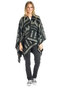 Rip Curl Sussex Blanket Wrap - Strickjacke für Damen - Schwarz