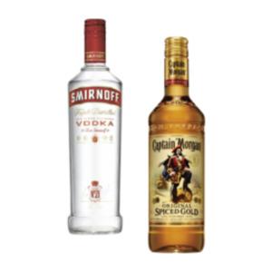 Captain Morgan Spiced Gold, White Rum oder Smirnoff Vodka