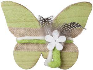 Deko-Schmetterling - aus Holz - 19,5 x 15 x 2 cm