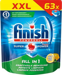 Finish All in 1 XXL Pack 63 Tabs Citrus