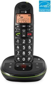 Doro PhoneEasy 105 WR Schnurlostelefon mit Anrufbeantworter schwarz