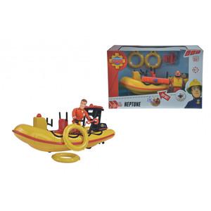 Simba - Feuerwehrmann Sam - Neptune, Boot mit Figur