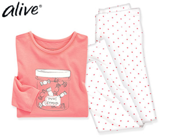 alive® Schlafanzug, Single Jersey
