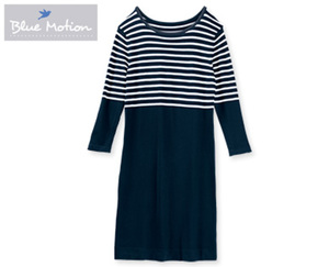 Blue Motion Strickkleid, maritim