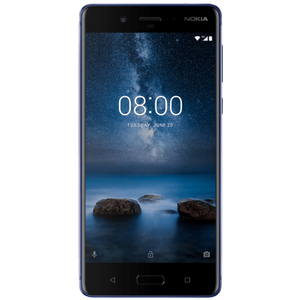 """""""Nokia 8 Glossy-Blue 128GB [13,5cm (5,3"""""""") QHD Display, Android 7.1.1, Octa-Core 1.8GHz, 13MP]"""""""