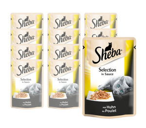 Sheba® Selection in Sauce, Nassfutter, 12 x 85 g