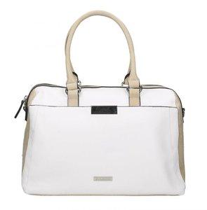 Handtasche, beige - kombiniert
