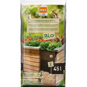 OBI Bio Hochbeetkompost torffrei 1 x 45 l