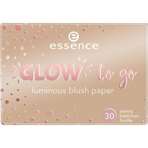 essence glow to go luminous blush paper 20