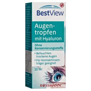 Best View Augentropfen mit Hyaluron 64.90 EUR/100 ml