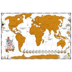 Weltkarte zum Rubbeln Papier