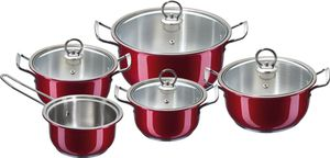 KING Kochtopfset New Silver Line RED EDITION, 10-teilig