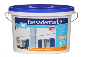 Primaster Fassadenfarbe 2,5 l, weiss