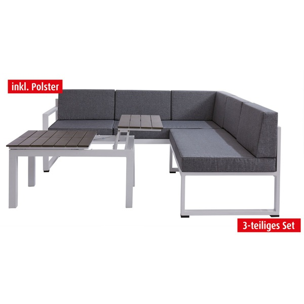 outdoor funktionslounge sitzecke mit 3 fach tisch malta. Black Bedroom Furniture Sets. Home Design Ideas