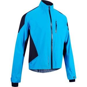 B´TWIN Fahrrad-Regenjacke 700 Herren blau, Größe: S