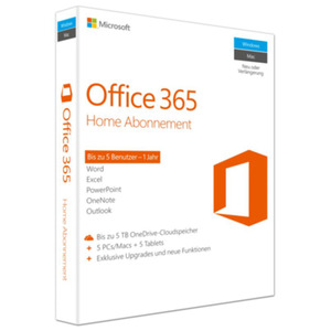 Microsoft Office 365 Home + F-Secure SAFE 5 Geräte 1Jahr