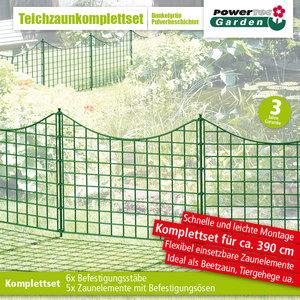 Powertec Garden Teichzaun Unterbogen Dunkelgrün
