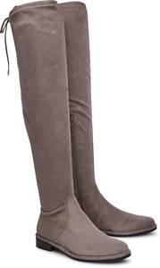 Overknee-Stiefel von BRUNO PREMI in taupe für Damen. Gr. 36,37,38,40