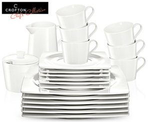 CROFTON®  Chef's Collection Modernes Kaffeeservice, ­20-­teilig