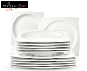 CROFTON®  Chef's Collection Modernes Tafelservice, 12-teilig