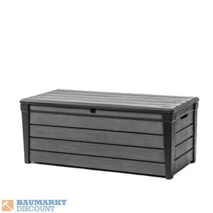 Keter Auflagenbox Brushwood Box, 455 L, grau