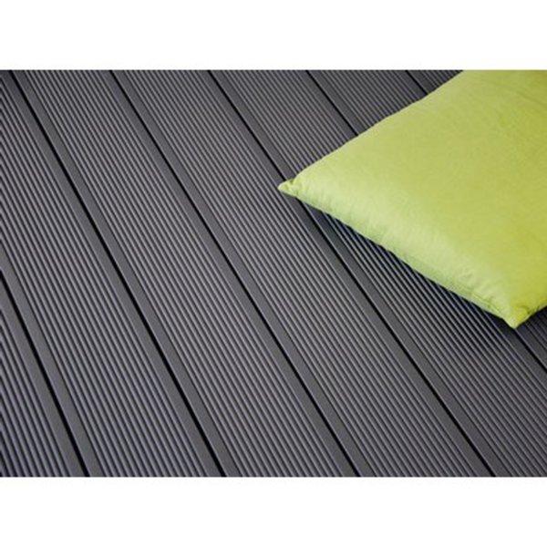 Kovalex WPC Terrassendiele Massiv matt Steingrau 2,6 cm x 14,5 cm x ...