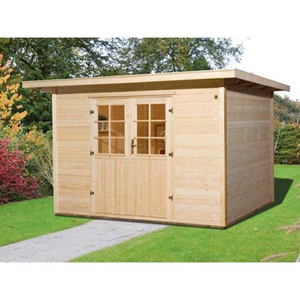 weka holz gartenhaus taro b 295 cm x 240 cm von obi ansehen. Black Bedroom Furniture Sets. Home Design Ideas