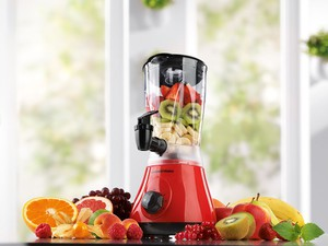 GOURMETmaxx Power-Mixer 2in1 400W rot