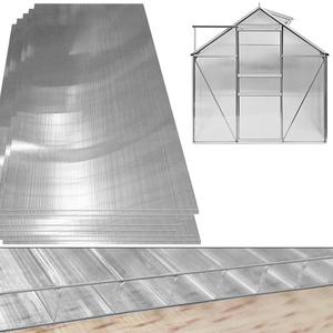 Deuba 10,25 m² Hohlkammerstegplatten 4mm