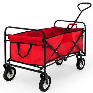 Deuba Roter Bollerwagen/Handwagen faltbar