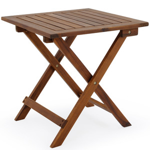 Deuba Gartentisch aus geöltem Akazienholz