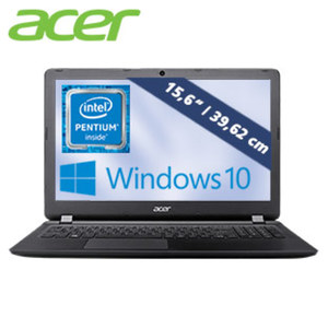 Acer Aspire ES 15 ES1-533-P635 mit Intel® Pentium® Prozessor N4200 (bis zu 2,5 GHz) · HD-Display (1366x768) · Intel® HD Graphics 505 · WLAN ac/a/b/g/n · HDMI, 1x USB 3.0, 2 x USB 2.0 · Blueto