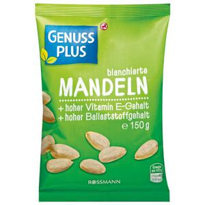 GENUSS PLUS blanchierte Mandeln 1.33 EUR/100 g