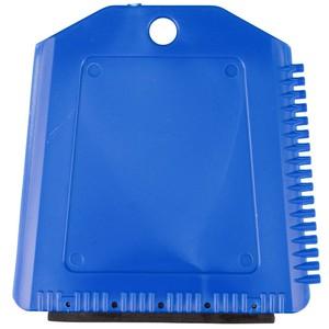Eiskratzer Trapezform mit Gummilippe Kunststoff blau