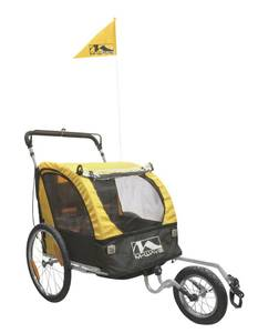 3 in 1 Kinder-, Gepäck- und Jogging Fahrradanhänger/-wagen 20 M-Wave