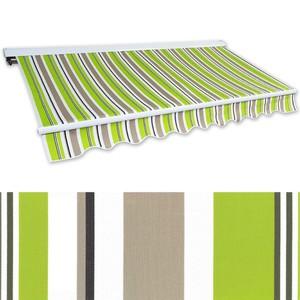 Kassetten-Markise 5,0 x 3,0 m grün-braun (Profilfarbe: Weiß)