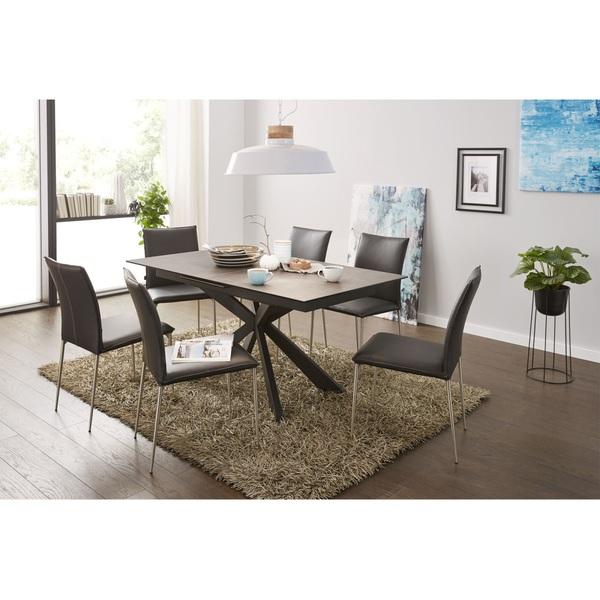 stuhl mit leder ptmd franky stuhl leder schwarz oder. Black Bedroom Furniture Sets. Home Design Ideas