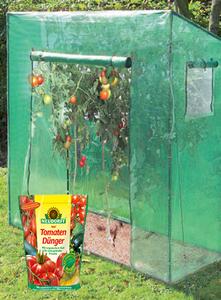 Tomatengewächshaus Groß, ca. 190x170x80 cm + GRATIS dazu Tomatendünger 750 g