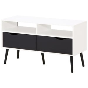 tv element in furniert wildeiche schwarz eichefarben von. Black Bedroom Furniture Sets. Home Design Ideas