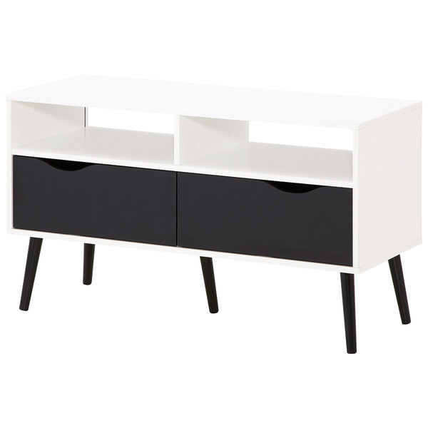 tv bank schwarz. Black Bedroom Furniture Sets. Home Design Ideas