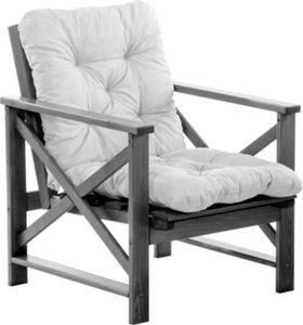 Massivholz Sessel Gartenstuhl Stuhl OSLO Gartenmöbel Taupegrau
