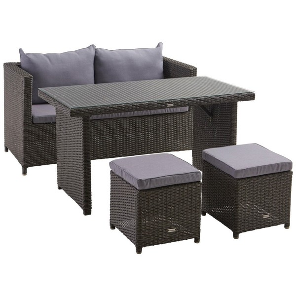 ambia garden gartenset kunststoffgeflecht aluminium grau von xxxlutz f r 349 ansehen. Black Bedroom Furniture Sets. Home Design Ideas